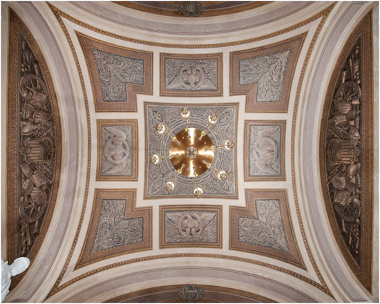 Trophy Room ceiling, U.S. Capitol, restored 2013