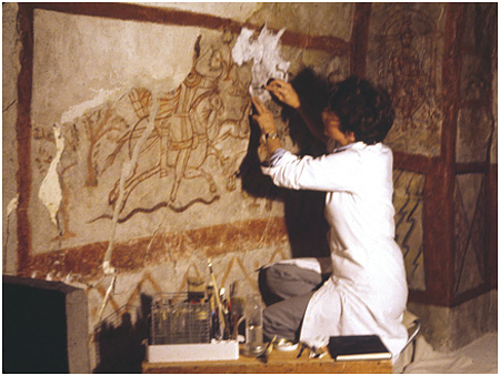 1982 Conservation of 3rd century Mithraic shrine