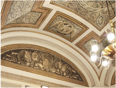 Trophy Room ceiling after treatment in 2011