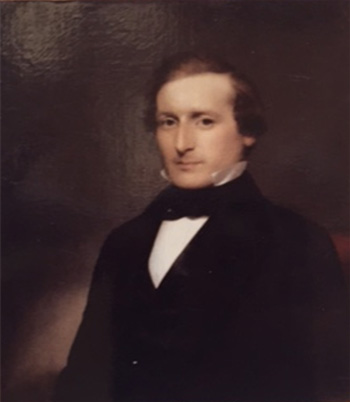 19th century American portrait in oil paint on canvas treated 1983, private collection