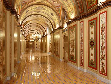 North Corridor in U.S. Senate's Brumidi Corridor system