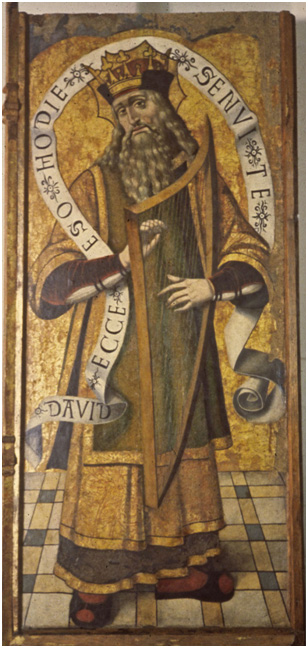 6 'x 2 ½'  Sardinian panel painting in egg tempera by Giovani Muru, 1515,  treated 1979